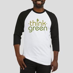 Think Green [text] Baseball Jersey